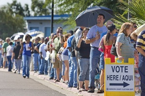 Lines in Florida for voting